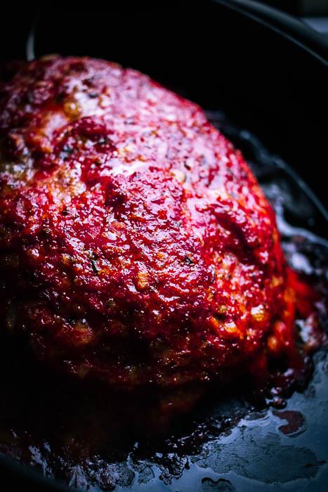 Gehaktbrood van de BBQ