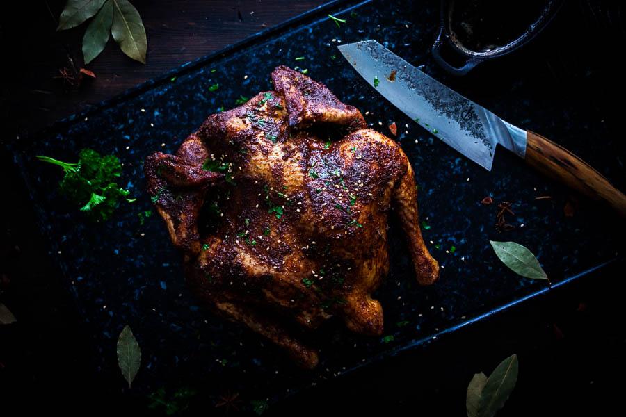 Kip van de markt maken zonder spit?
