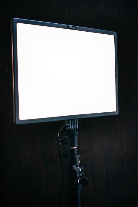 Led go panel food fotografie apparatuur