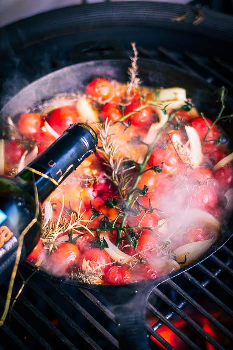 feta pasta met rode wijn