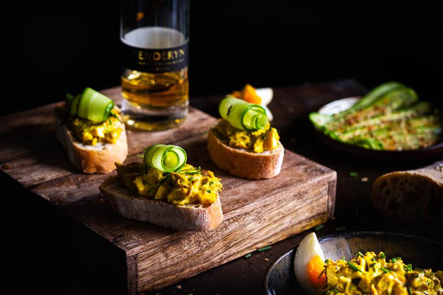 Gerookte Eiersalade met Pulled Turkey – Royal Egg Salad