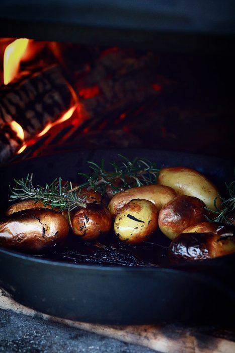 gerookte aardappelen