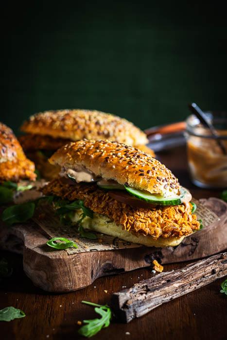 krokante kip-sandwich