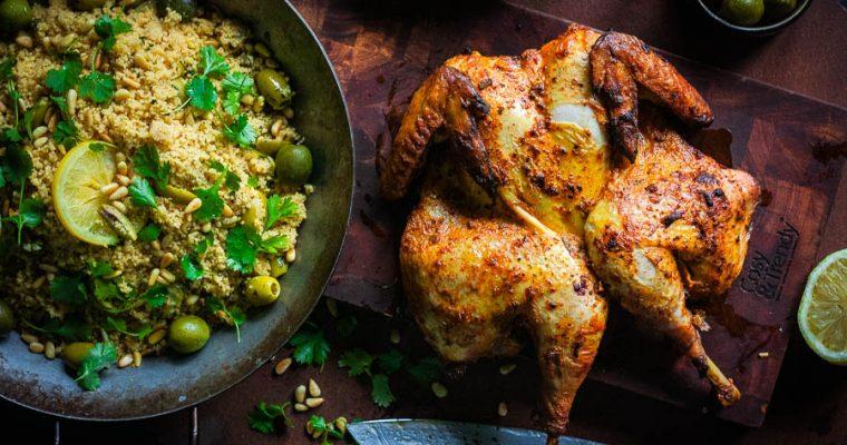 Heerlijke Marokkaanse gegrilde kip – zure room marinade