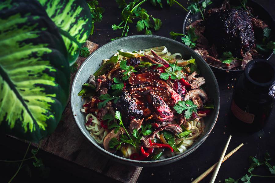 Smoky Black Pepper Lamb Noodles